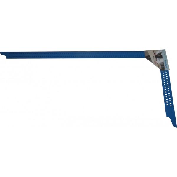 Ácsderékszög Kék 800 mm - Kiosztással és rajzlyukkal