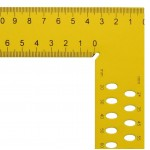 Ácsderékszög Sárga 1000 mm - Kiosztással és rajzlyukkal