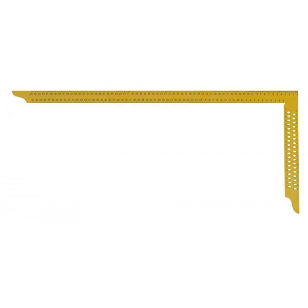 Ácsderékszög Sárga 800 mm - Kiosztással és rajzlyukkal - Ácsderékszög