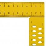 Ácsderékszög Sárga 800 mm - Kiosztással és rajzlyukkal