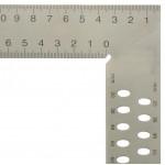 Ácsderékszög varratmentes 800 mm - Kiosztással és rajzlyukkal - Derékszög és szögmásoló