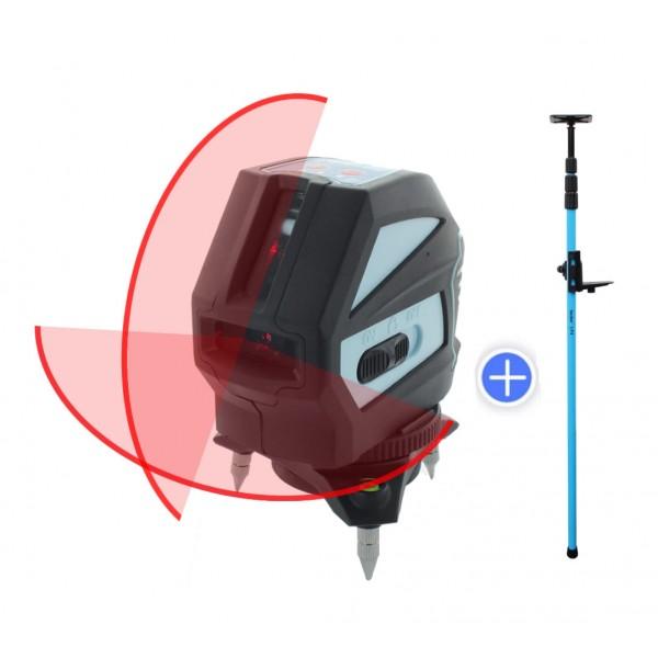 hedue L1 vonallézer + LP4 szorítórúd 3,6 m - Kereszt és vonallézerek