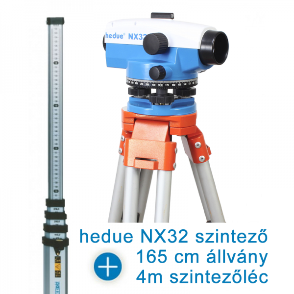 hedue NX32 optikai szintező csomagban
