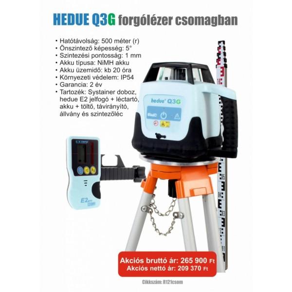 hedue Q3G forgólézer csomagban - Forgólézerek és lézerszintezők