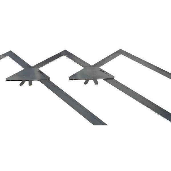Lépcső rajzderékszög 3/3 kiegészítő szett - Asztalos derékszög