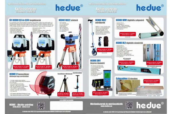 HEDUE akciós ajánlata 2018.12.31-ig