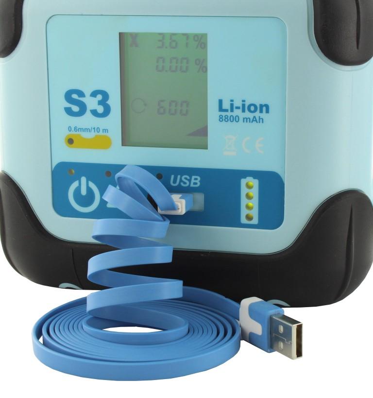 hedue S23 forgólézer, USB csatlakozóval és 0,6 mm szintezési pontossággal