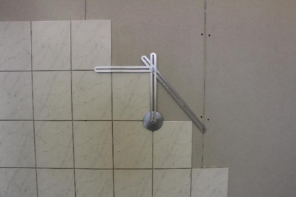 Csempe diagonál mérése
