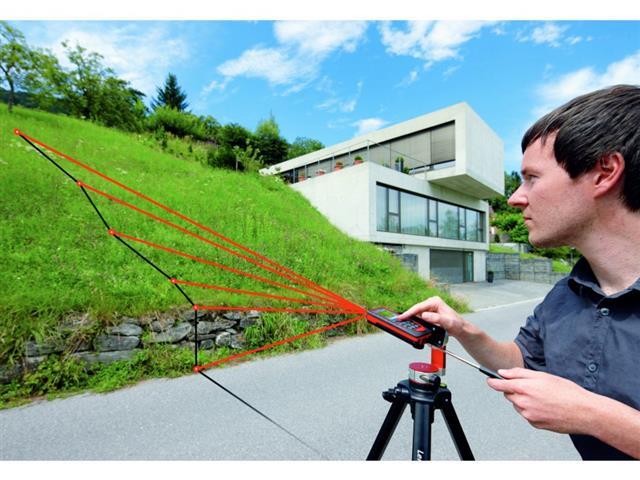Szintemagasság mérése Disto D510 távolságmérővel