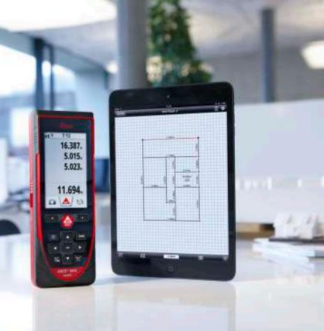Leica Disto D810 Bluetooth Smart funkcióval a mérések megosztásához