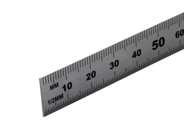 15 cm vonalzó acél